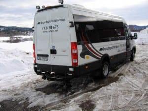 grå ford minibuss bakfra