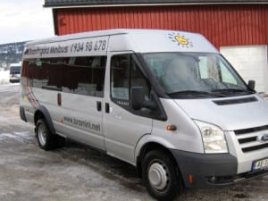 grå ford minibuss