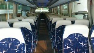 minibussen innvendig